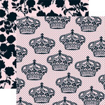 Teresa Collins - Chic Bebe Girl Collection - 12 x 12 Double Sided Paper - Royalty, CLEARANCE