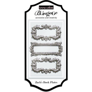 Teresa Collins - Blingage Collection - Zach's Book Plates - Silver