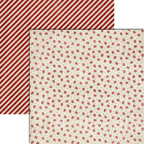 Teresa Collins - Christmas Cottage Collection - 12 x 12 Double Sided Paper - Tiny Flowers