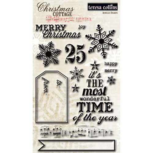 Teresa Collins - Christmas Cottage Collection - Clear Acrylic Stamps
