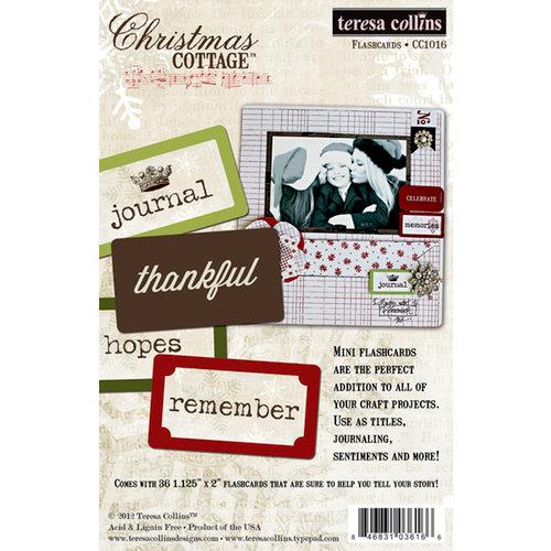 Teresa Collins - Christmas Cottage Collection - Flash Cards