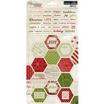 Teresa Collins - Christmas Cottage Collection - Cardstock Stickers - Two