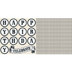 Teresa Collins - Celebrate Collection - 12 x 12 Double Sided Paper - Banner, CLEARANCE