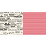 Teresa Collins - Celebrate Collection - 12 x 12 Double Sided Paper - Definitions