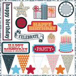 Teresa Collins - Celebrate Collection - Die Cut Chipboard - Elements, CLEARANCE