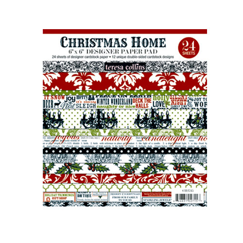 Teresa Collins - Christmas Home Collection - 6 x 6 Paper Pad