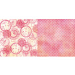 Teresa Collins - Freestyle Collection - 12 x 12 Double Sided Paper - Clocks, CLEARANCE