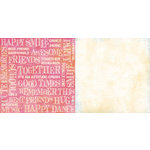 Teresa Collins - Freestyle Collection - 12 x 12 Double Sided Paper - Words, CLEARANCE