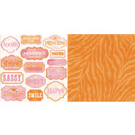 Teresa Collins - Freestyle Collection - 12 x 12 Double Sided Paper - Tags, CLEARANCE