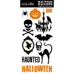 Teresa Collins - Haunted Hallows Collection - Halloween - Die Cut Chipboard - Elements