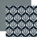 Teresa Collins - Mr and Mrs. Collection - 12 x 12 Double Sided Paper - Damask, CLEARANCE