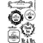 Teresa Collins - Mr. And Mrs. Collection - Clear Acrylic Stamp Set, CLEARANCE