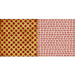 Teresa Collins - Noel Collection - Christmas - 12 x 12 Double Sided Paper - Red Dots