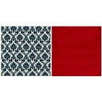 Teresa Collins - Noel Collection - Christmas - 12 x 12 Double Sided Paper - Black Damask