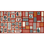Teresa Collins - Noel Collection - Christmas - 12 x 12 Double Sided Paper - Countdown, CLEARANCE
