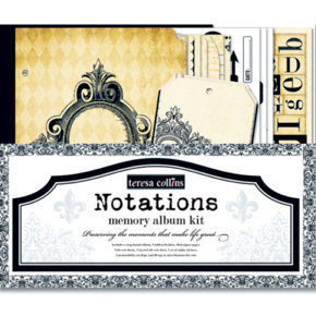 Teresa Collins - Notations Collection - Memory Album Kit