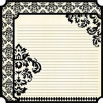 Teresa Collins - Notations Collection - 12 x 12 Double Sided Die Cut Paper - Damask