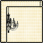 Teresa Collins - Notations Collection - 12 x 12 Double Sided Die Cut Paper - Chandelier