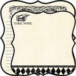 Teresa Collins - Notations Collection - 12 x 12 Double Sided Die Cut Paper - Take Note