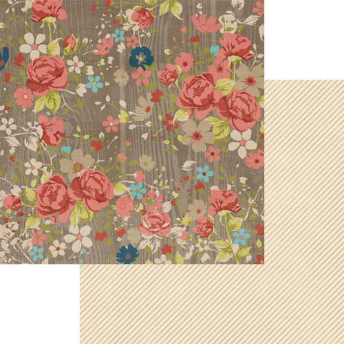 Teresa Collins - Now And Then Collection - 12 x 12 Double Sided Paper - Floral