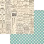 Teresa Collins - Now And Then Collection - 12 x 12 Double Sided Paper - Newsprint