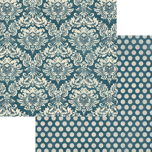 Teresa Collins - Now And Then Collection - 12 x 12 Double Sided Paper - Damask