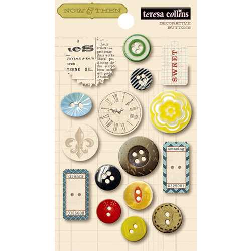 Teresa Collins - Now And Then Collection - Buttons