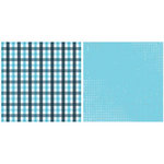 Teresa Collins - On the Edge Collection - 12 x 12 Double Sided Paper - Plaid