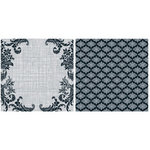 Teresa Collins - Posh Collection - 12 x 12 Double Sided Paper - Gray Flourishes