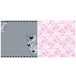 Teresa Collins - Posh Collection - 12 x 12 Double Sided Paper - Posh Butterflies