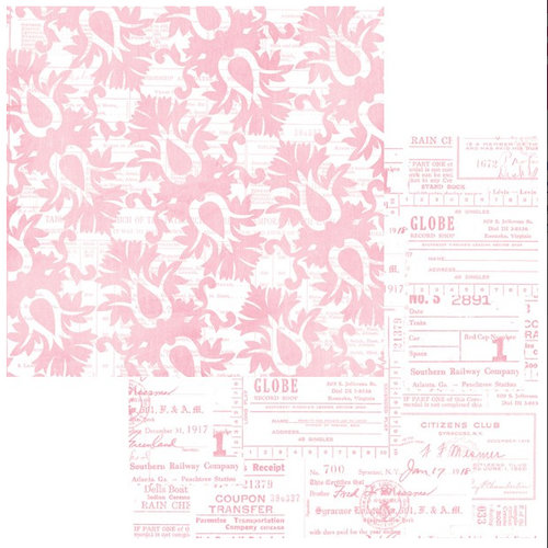 Teresa Collins - Sweet Afternoon Collection - 12 x 12 Double Sided Paper - Going Downtown