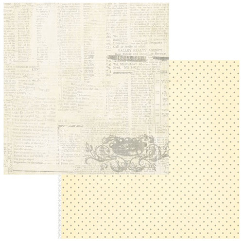 Teresa Collins - Sweet Afternoon Collection - 12 x 12 Double Sided Paper - In the Attic