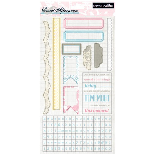 Teresa Collins - Sweet Afternoon Collection - Cardstock Stickers
