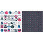 Teresa Collins - Sports Edition II Collection - 12 x 12 Double Sided Paper - Circle Tags