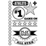 Teresa Collins - Sports Edition II Collection - Clear Acrylic Stamps - Sports Edition II