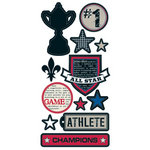 Teresa Collins - Sports Edition II Collection - Die Cut Chipboard - Elements