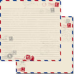 Teresa Collins - Travel Ledger Collection - 12 x 12 Double Sided Paper - Travel Letter