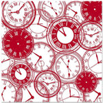 Teresa Collins - Travel Ledger Collection - 12 x 12 Transparency - Travel Clocks