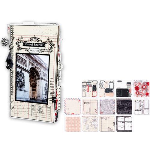 Teresa Collins - Travel Ledger Collection - 6 x 12 Journal Album Kit