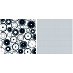 Teresa Collins - Timeless Collection - 12 x 12 Double Sided Paper - Time Clocks