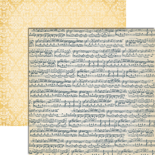 Teresa Collins - Vintage Finds Collection - 12 x 12 Double Sided Paper - Music
