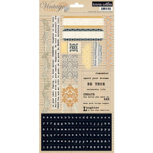 Teresa Collins - Vintage Finds Collection - Cardstock Stickers - One