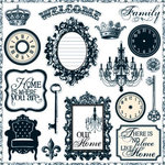 Teresa Collins - Welcome Home Collection - Die Cut Chipboard - Elements