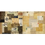 Teresa Collins - World Traveler Collection - 12 x 12 Double Sided Paper - Collage