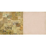 Teresa Collins - World Traveler Collection - 12 x 12 Double Sided Paper - Maps