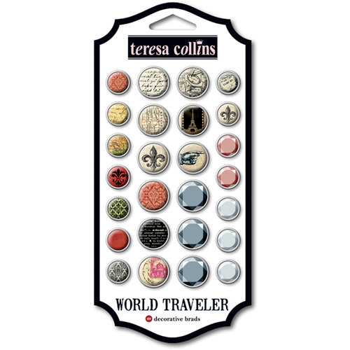 Teresa Collins - World Traveler Collection - Brads