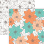 Teresa Collins Designs - Tell Your Story Collection - 12 x 12 Double Sided Paper - Flowers