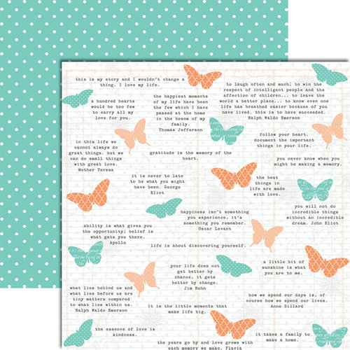 Teresa Collins - Tell Your Story Collection - 12 x 12 Double Sided Paper - Butterfly