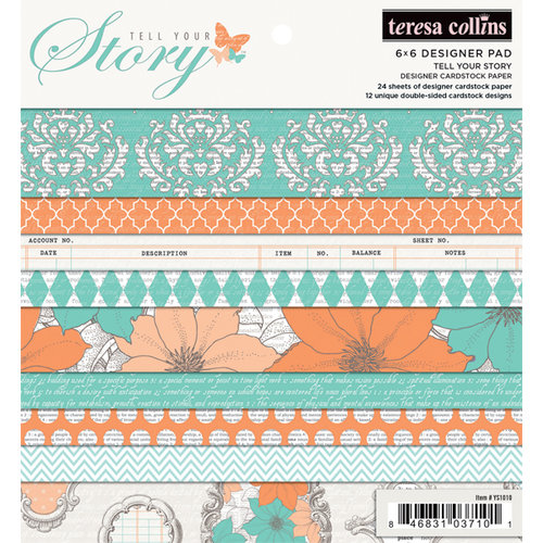 Teresa Collins - Tell Your Story Collection - 6 x 6 Paper Pad