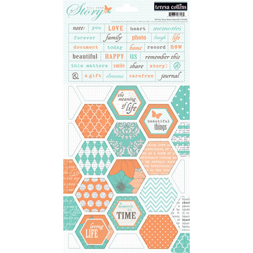 Teresa Collins - Tell Your Story Collection - Cardstock Stickers - Two